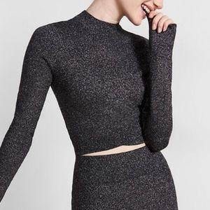 Express sweater crop top